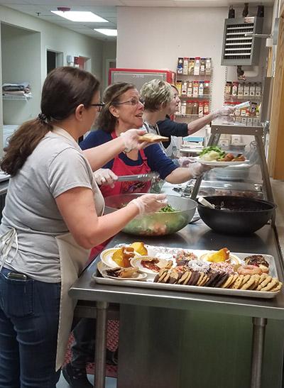 volunteers at Friendly Kitchen